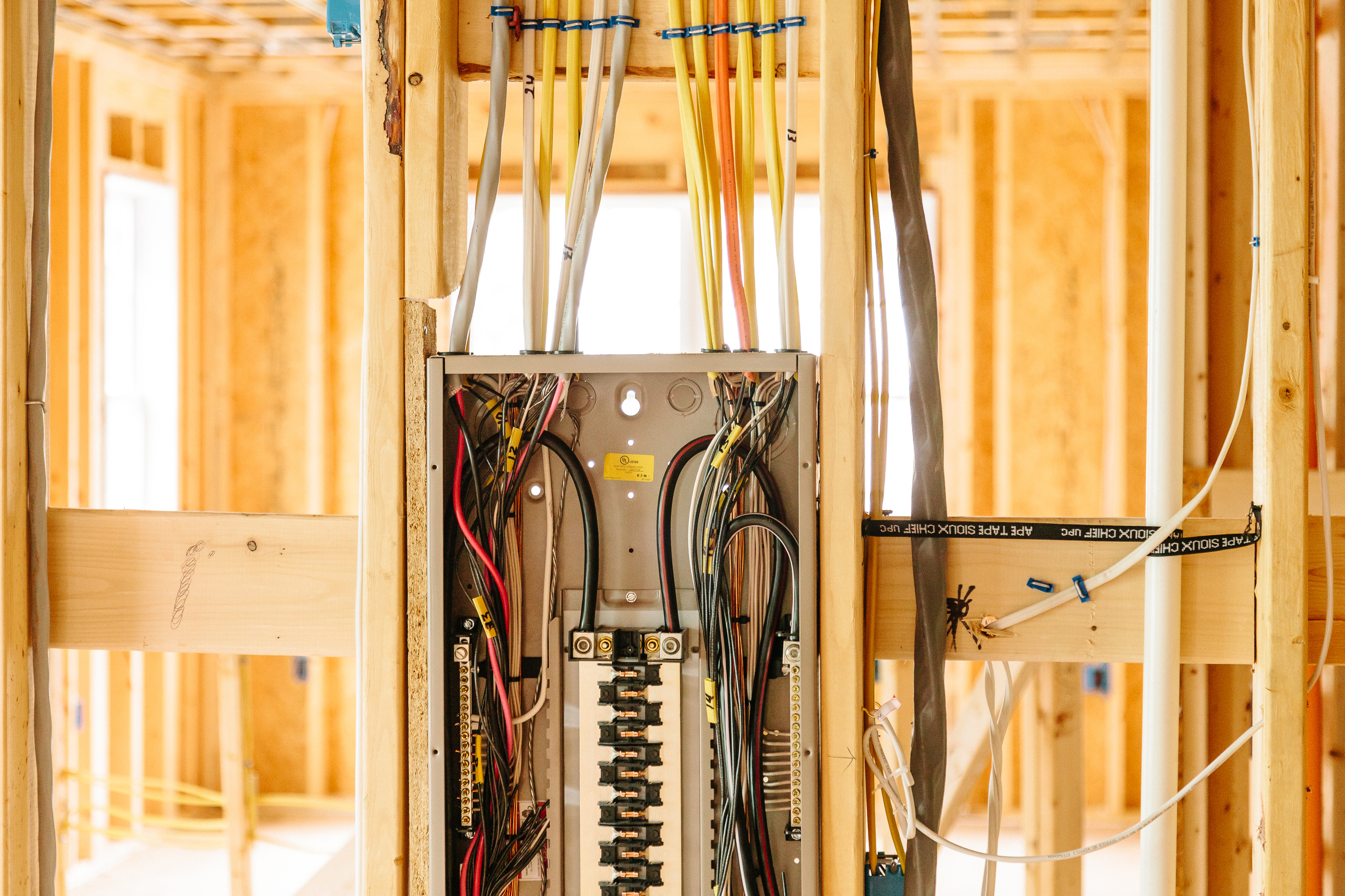 Image of electrical panel in home