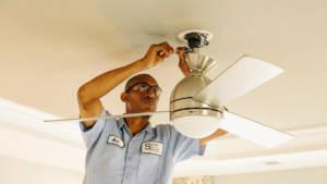 Ceiling fan installation in Leesburg VA by SESCOS