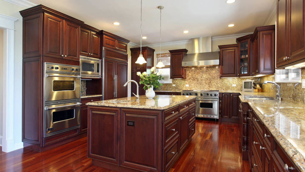 Image of recessed lighting in kitchen