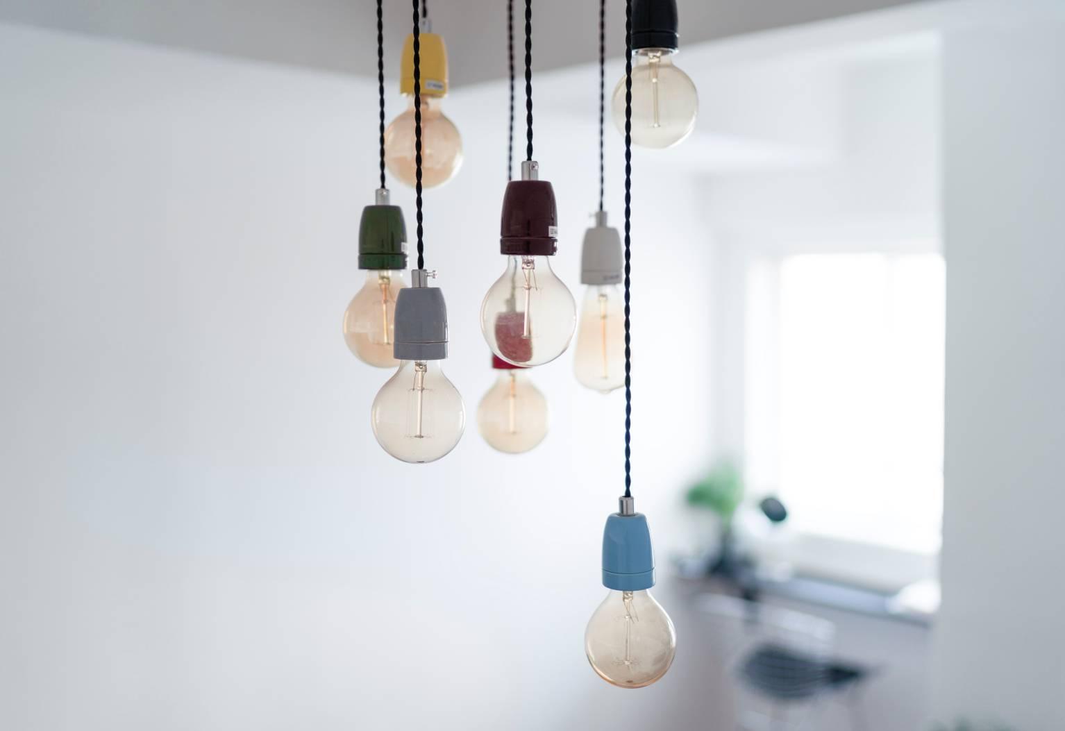 Image of light bulb array