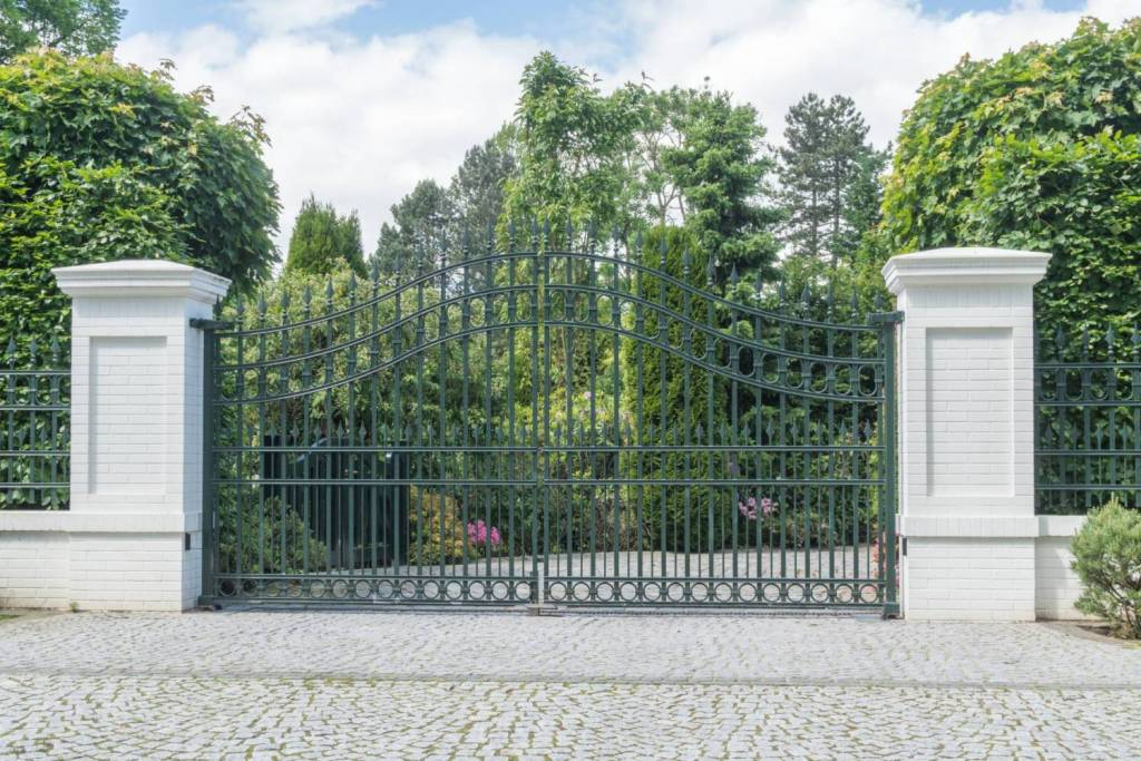Image of Electric Powered Gate on Driveway Entrance