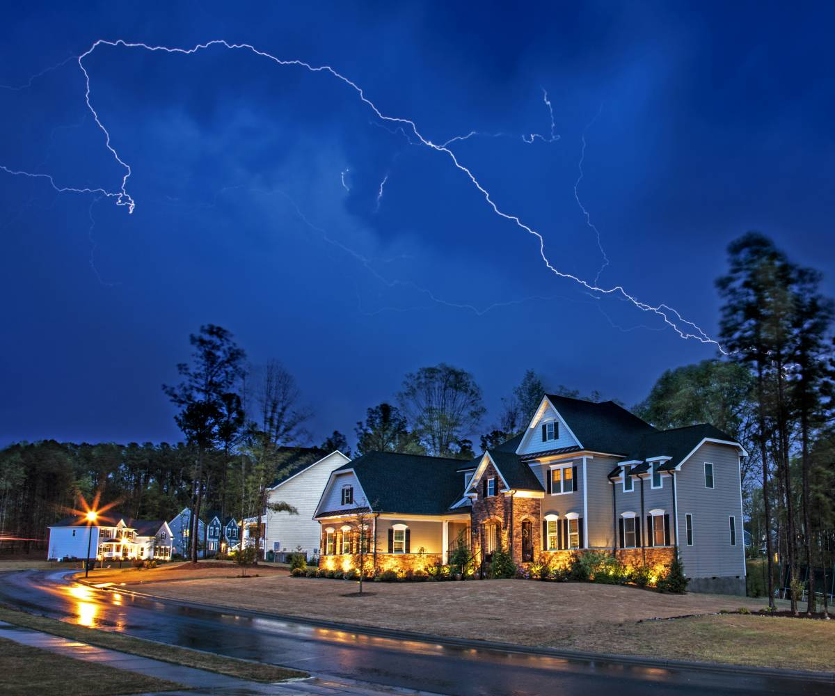 Image of home during summer storm