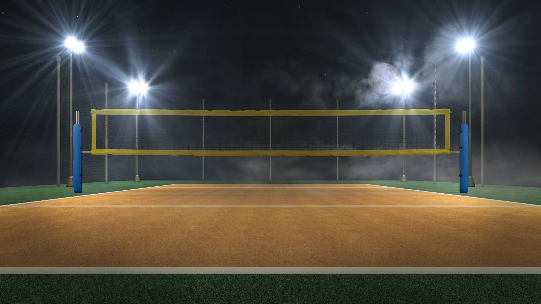Image of Outdoor Sports Court with LED Ligthing